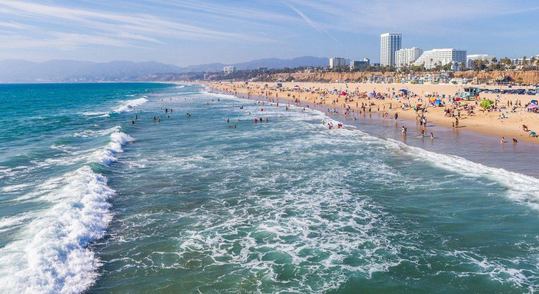 Plage de Santa Monica en Californie