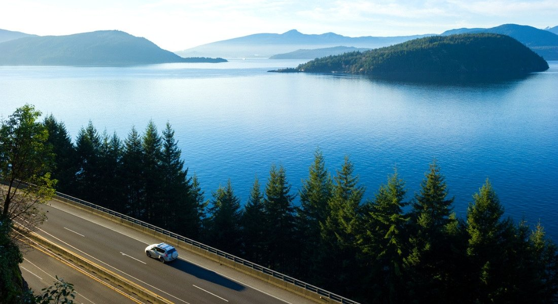 Sea-to-Sky Highway entre Whistler et Vancovuer