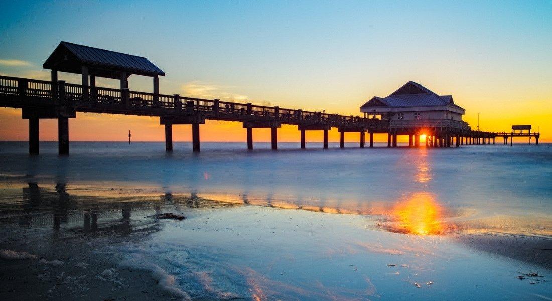 Plage de Clearwater en Floride