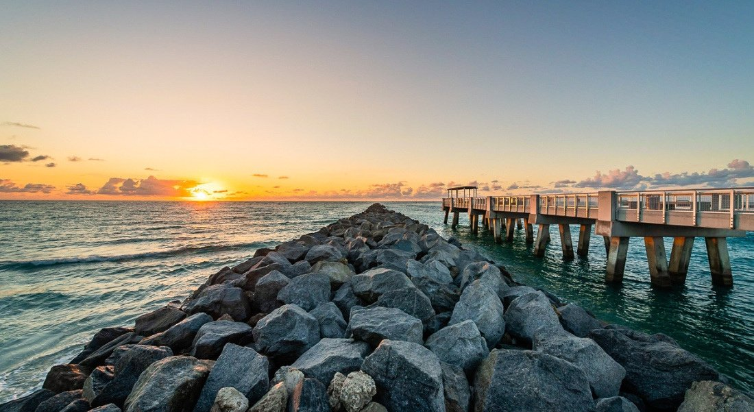 South Pointe Park and Pier Sunset