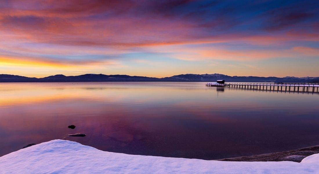 Lever de soleil sur le Lac Tahoe