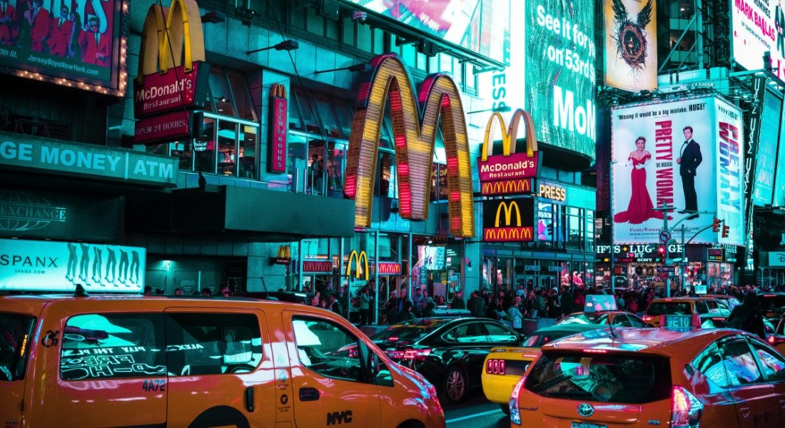 Times Square yellow cabs
