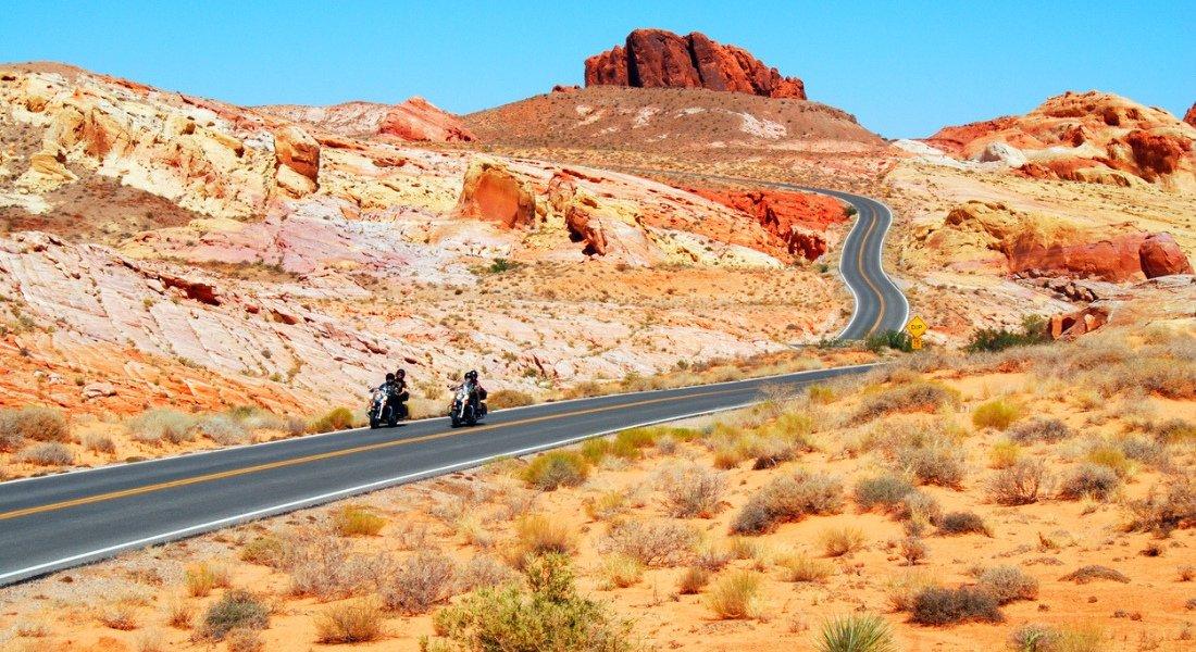 road trip en moto dans la Valley of Fire