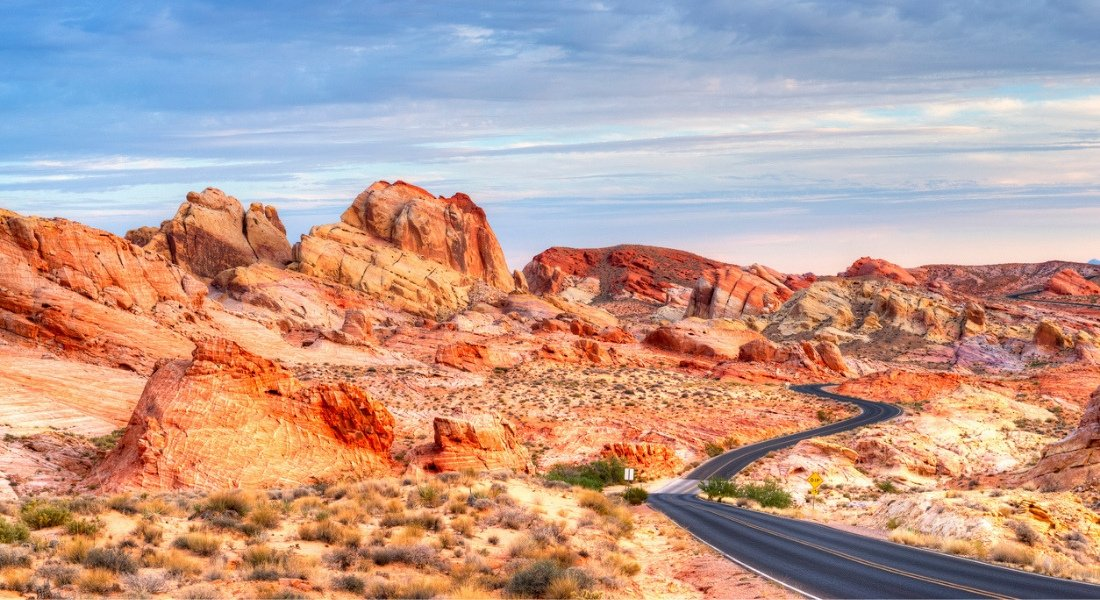 Scenic road valley of fire
