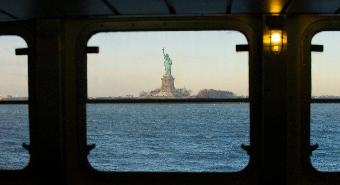 Statue de la Liberté en ferry