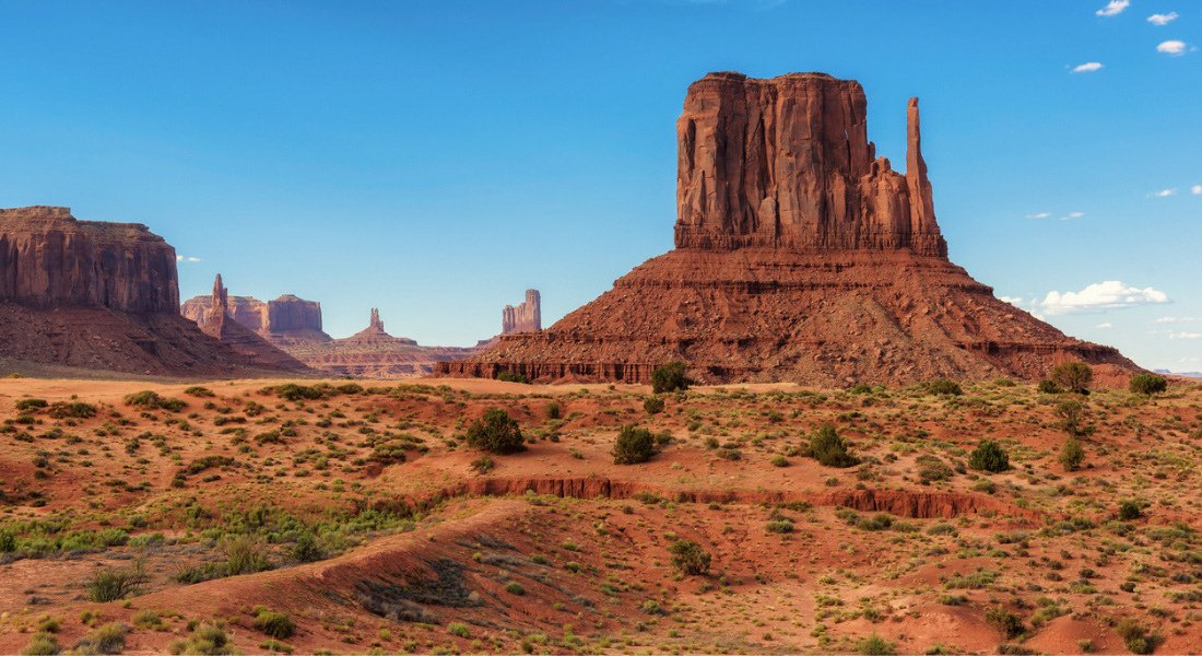 Route qui traverse Monument Valley