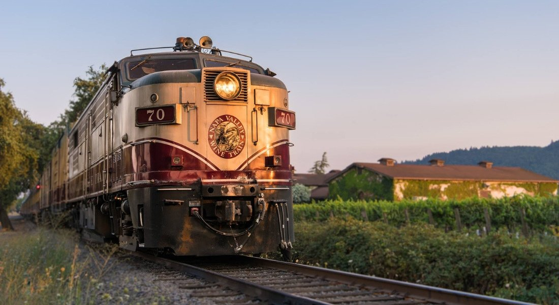 Visiter le vignobles de Napa Valley en train