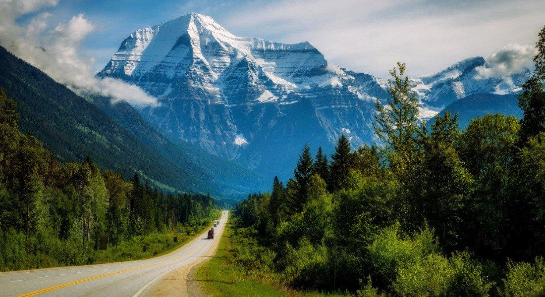 Yellowhead Highway entre Jasper et le mont Robson