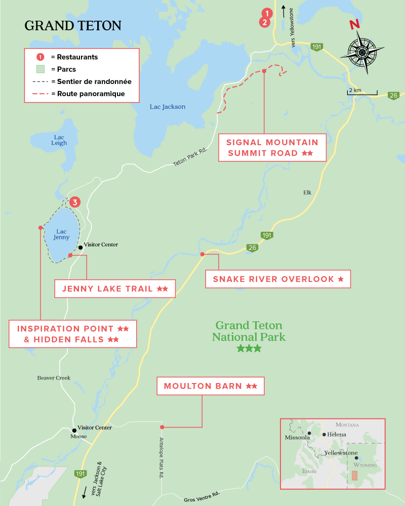 Carte de Grand Teton National Park