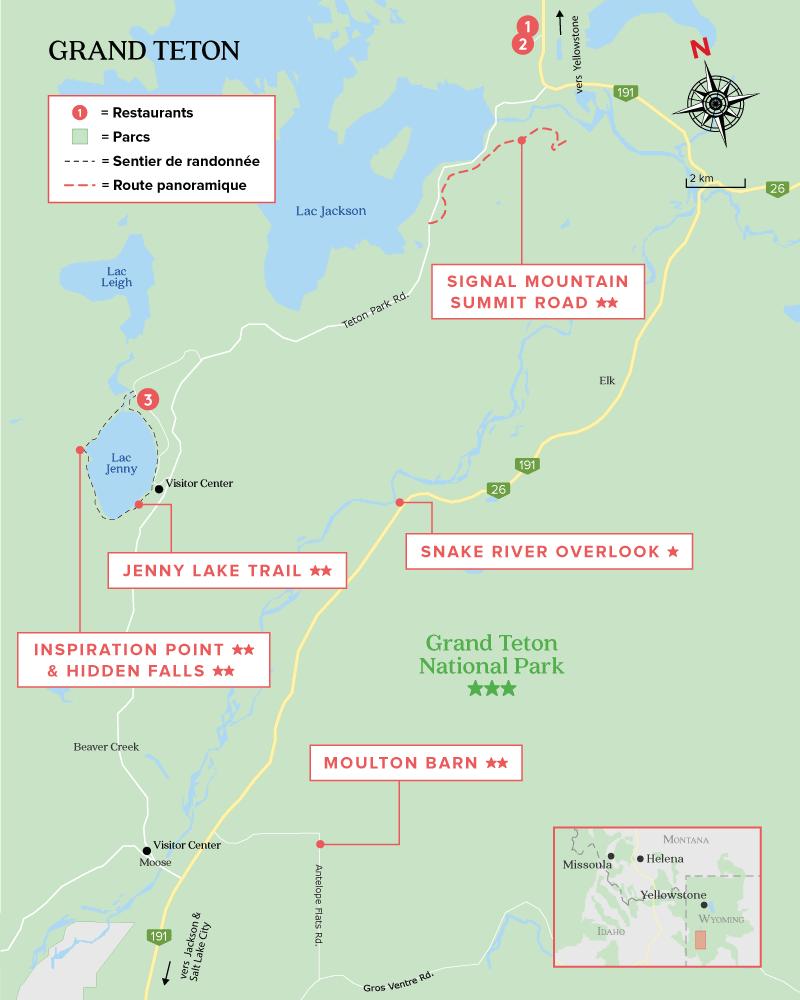 Carte de Grand Teton National Park