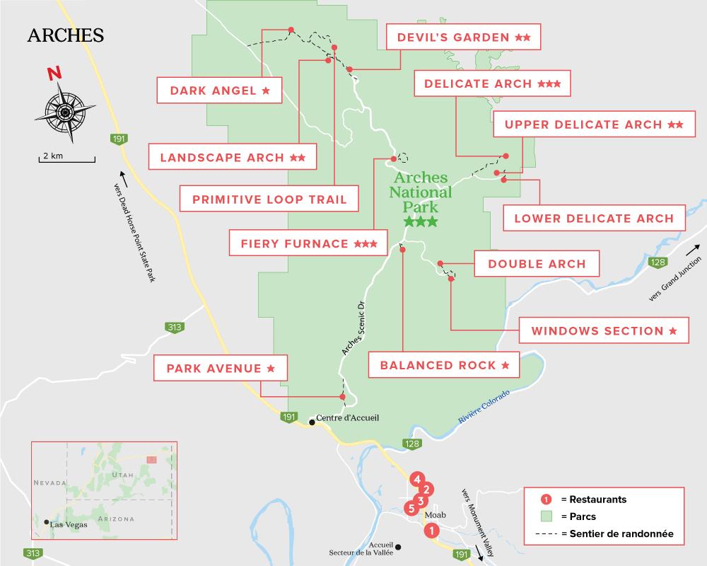 Carte Parc des Arches