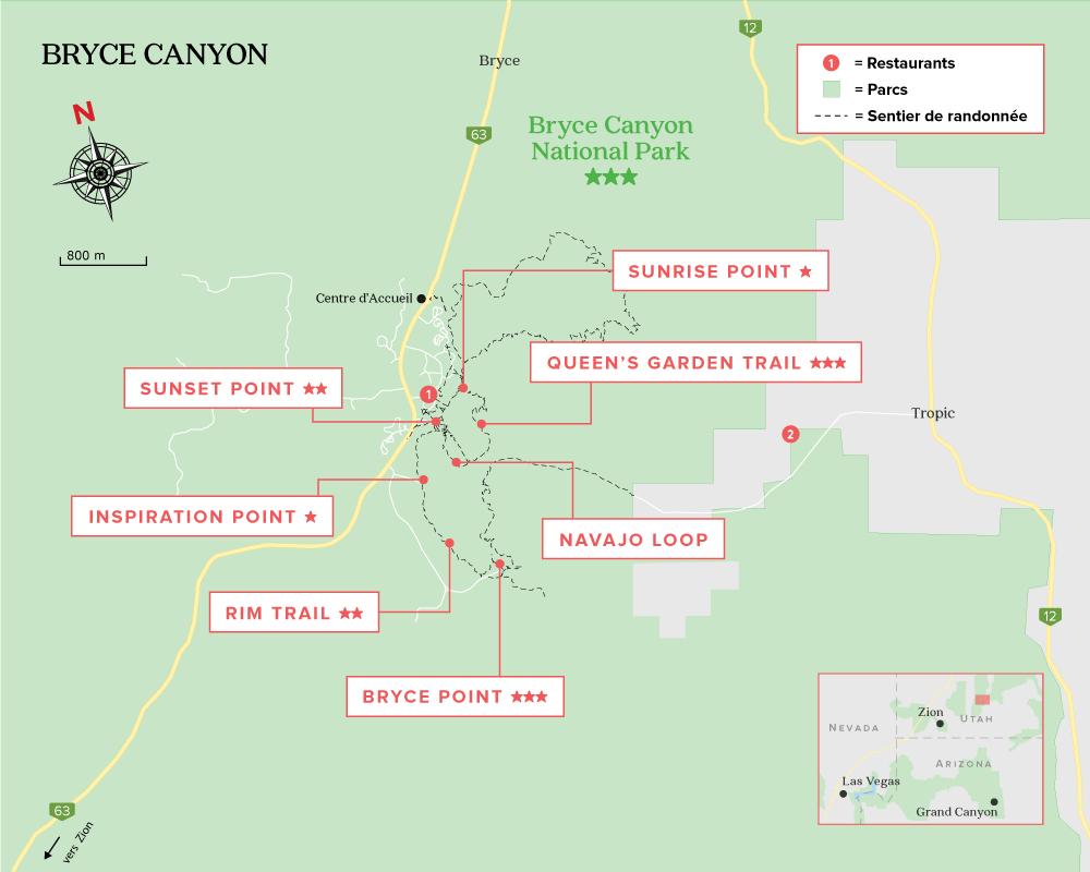 Carte de Bryce Canyon