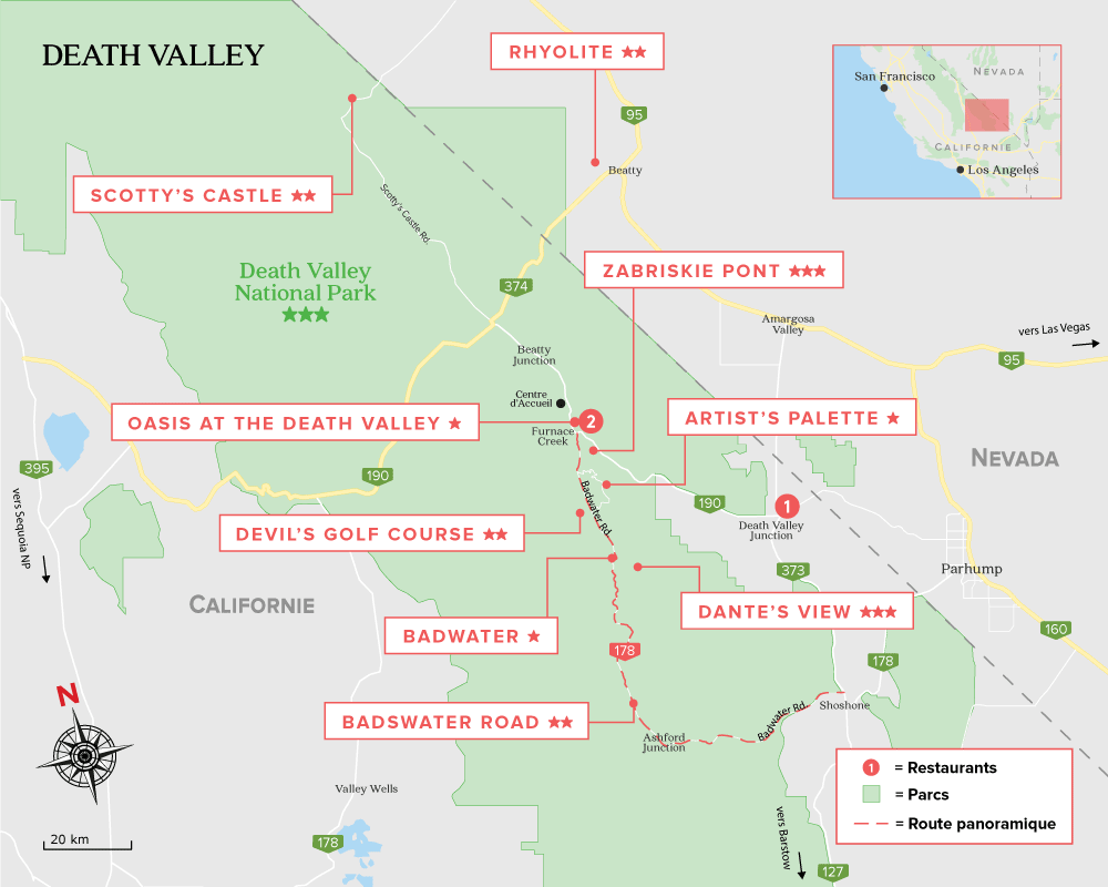 Carte de Deathe Valley
