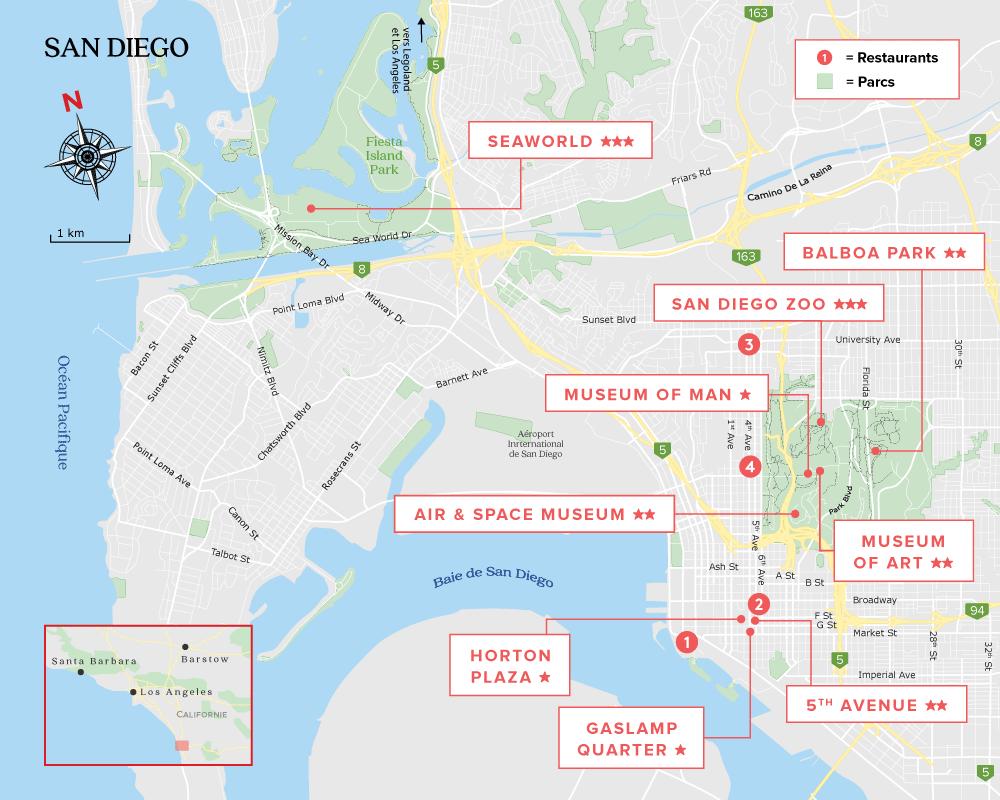 Carte de San Diego