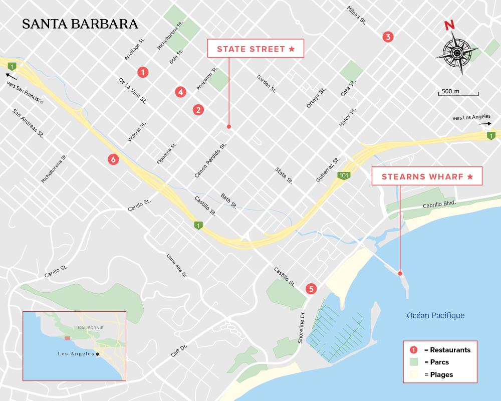 Carte de Santa Barbara