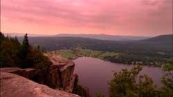 Vue magnifique des Cantons-de-l'Est, Canada