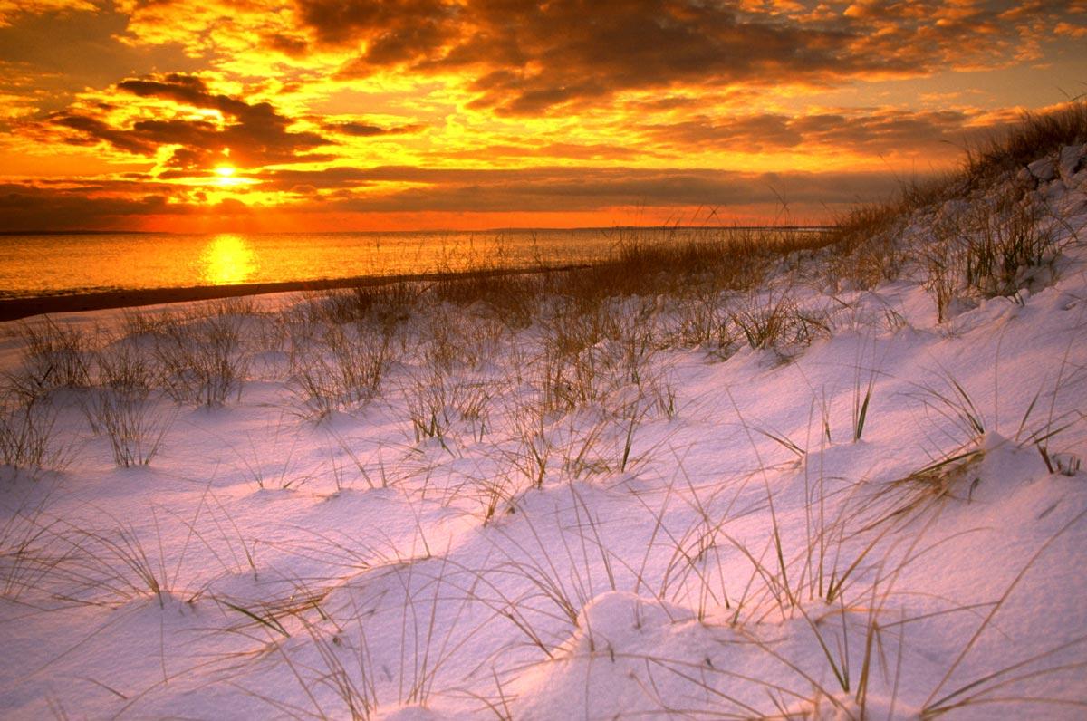 Coucher de soleil sur Cape Cod