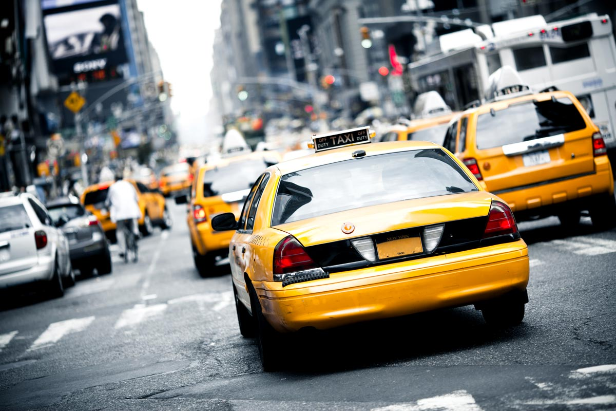 Taxi jaune de New-York