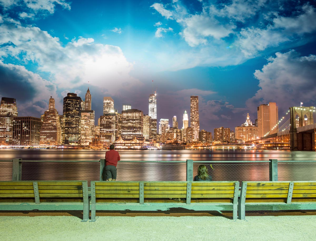 New-York vu du Brooklyn Bridge Park