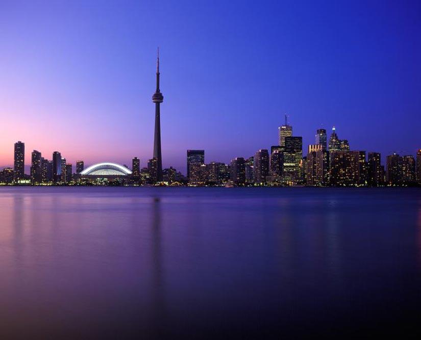 Vue de Toronto à partir de Centre Island