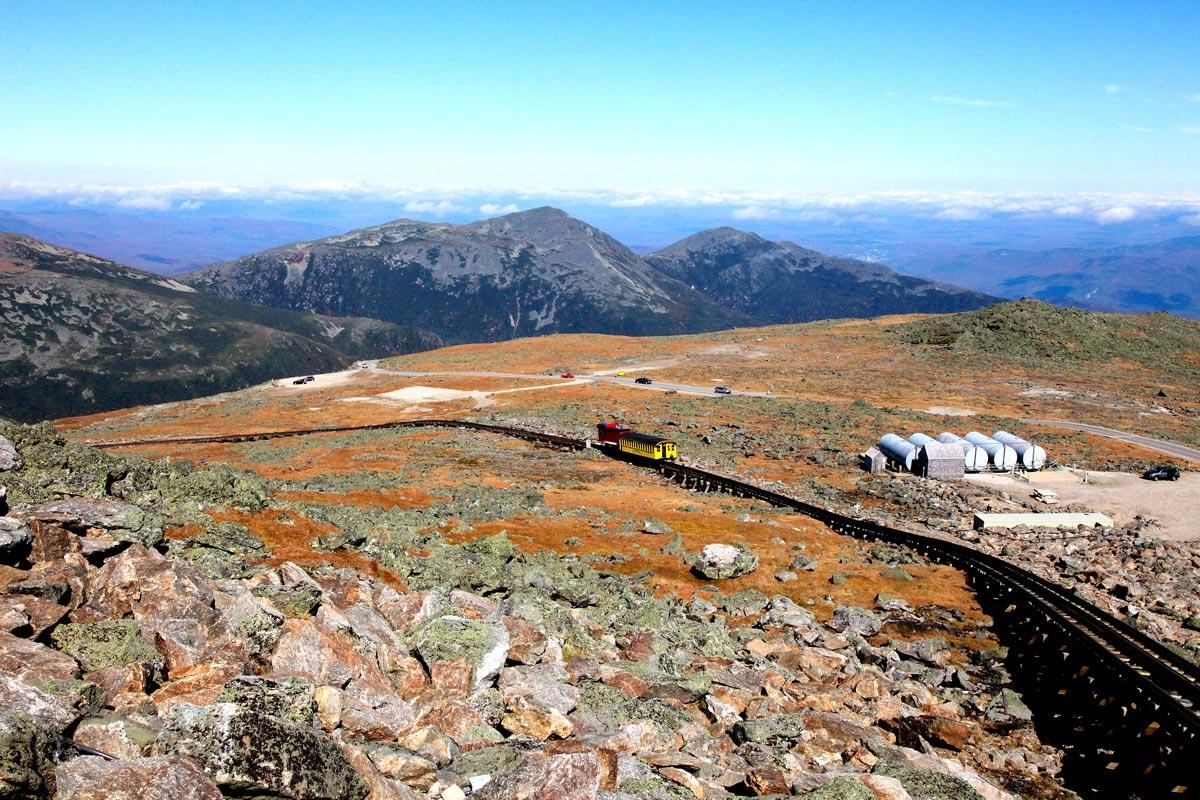 Train Cog Railway sur le Mont Washington