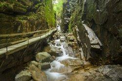 Flume Gorge située dans le parc d'État Franconia Notch