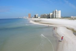 Plage de sable fin et blanc de Panama City Beach