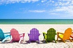 La plage de l'île de Sanibel, FL