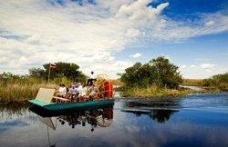 Aéroglisseur dans les Everglades