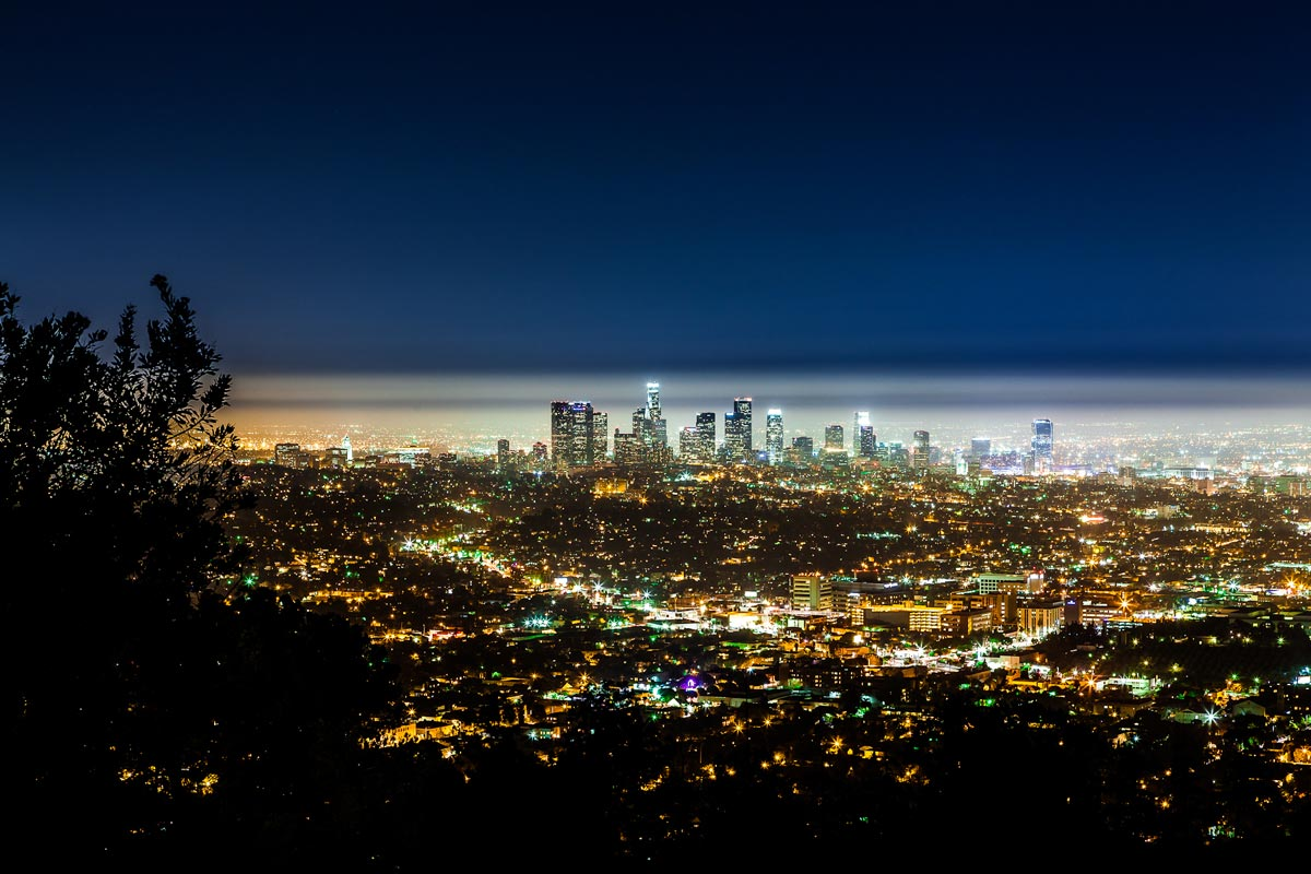 La nuit tombe sur Los Angeles