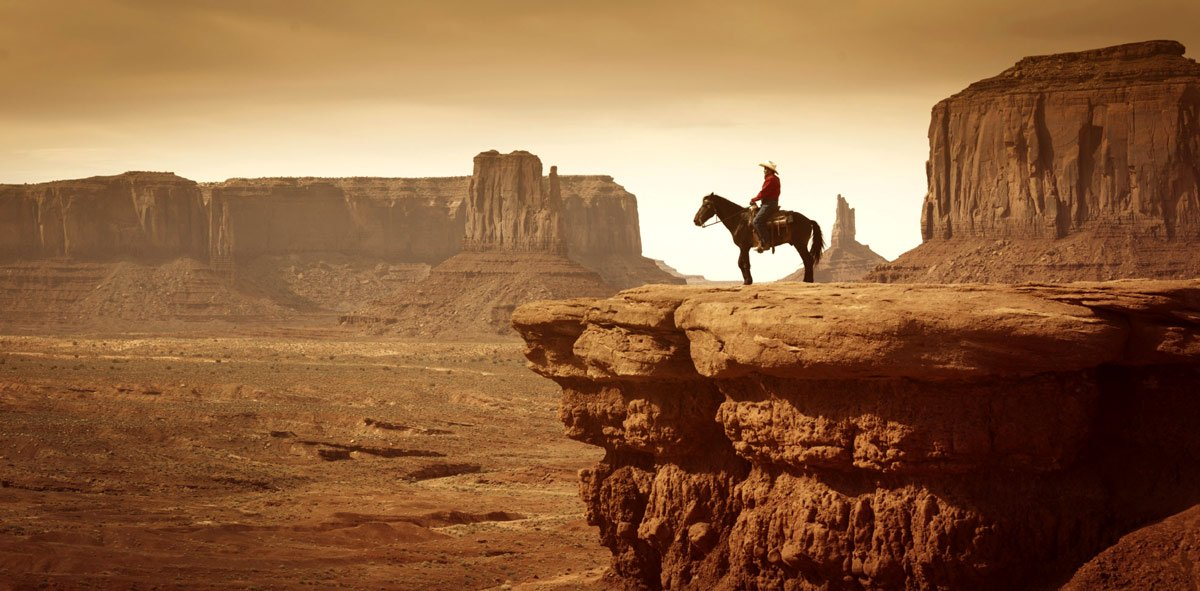 Cowboy de Monument Valley