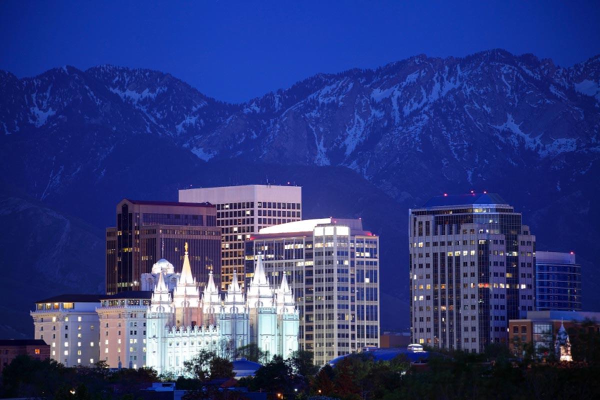 La nuit tombe sur Salt Lake City