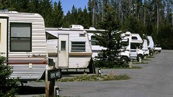 Camping Fishing Bridge RV Park - Yellowstone Park, WY