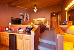 Red Cliffs Lodge - Chambre, cuisine