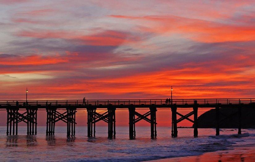 Gaviota Pier - Au coucher du soleil