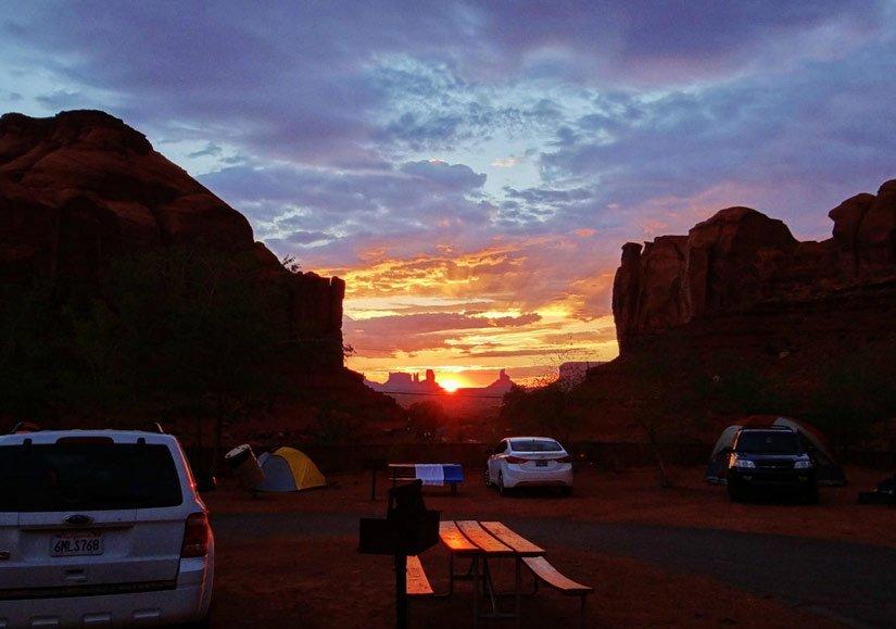 Camping Goulding's Lodge - Tombée de la nuit
