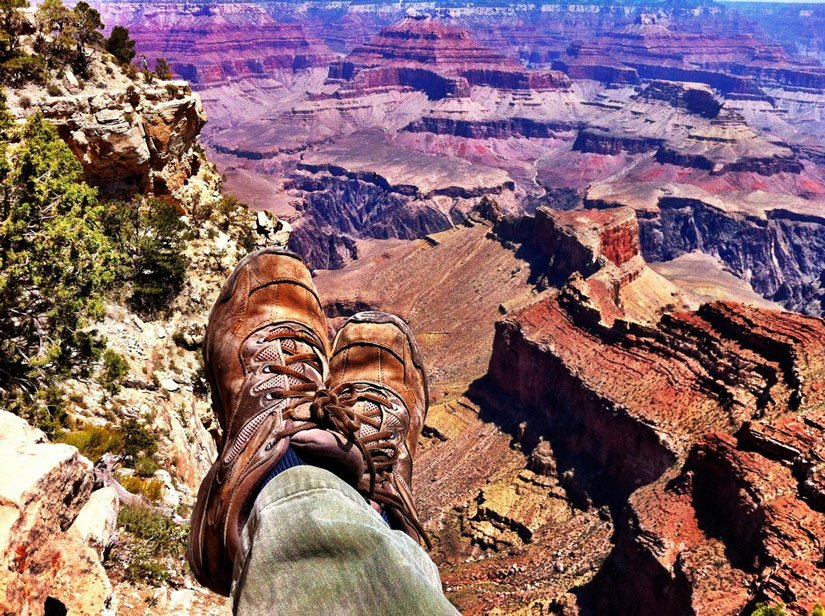 Rando le long de la Rim Trail du Grand Canyon