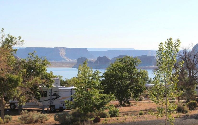 Camping Wahweap et le Lac Powell