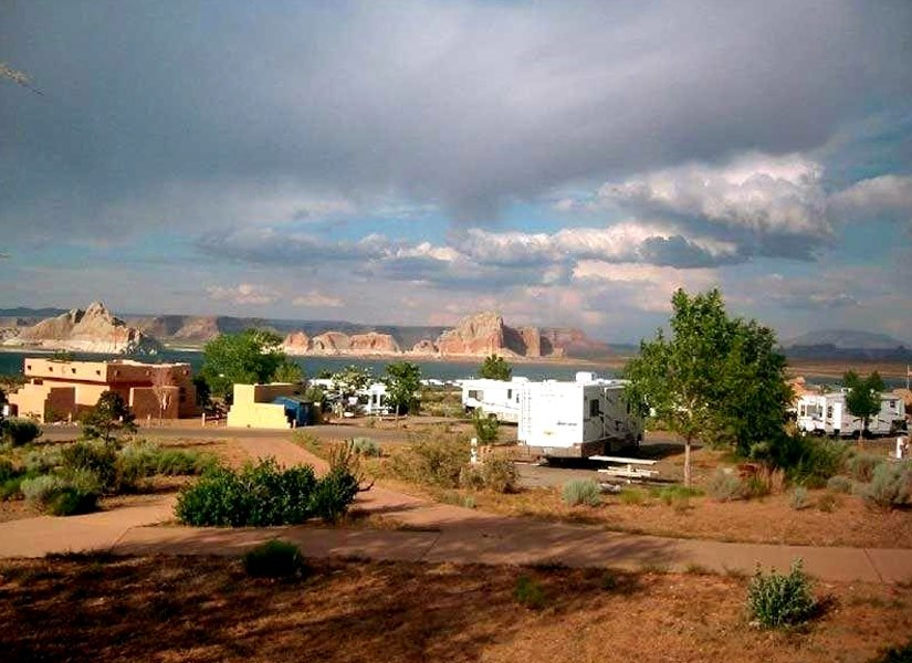 Camping Wahweap - Vue des installations