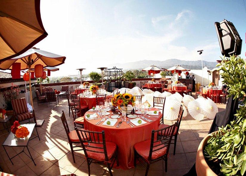 Canary Hotel - Repas sur la terrasse