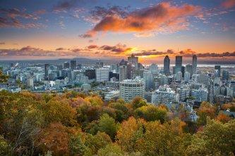 Centre-ville de Montreal vu du Mont Royal