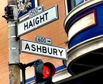 Coin de rue - quartier au coeur du mouvement Hippie