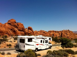 Camping car à Arches National Park